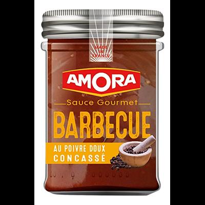 Sauce gourmet barbecue au poivre doux concasse pot 217 g amora