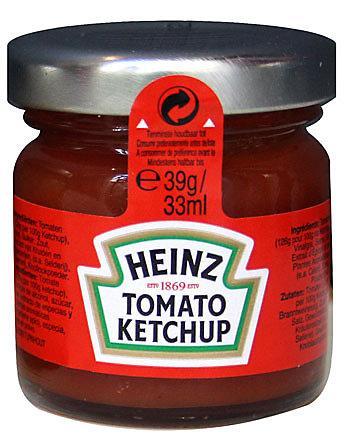 Sauce ketchup 80 x 33 ml heinz stick a l unite dosettes individuelles