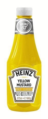 Sauce mustard classic heinz 875 ml pour professionnels