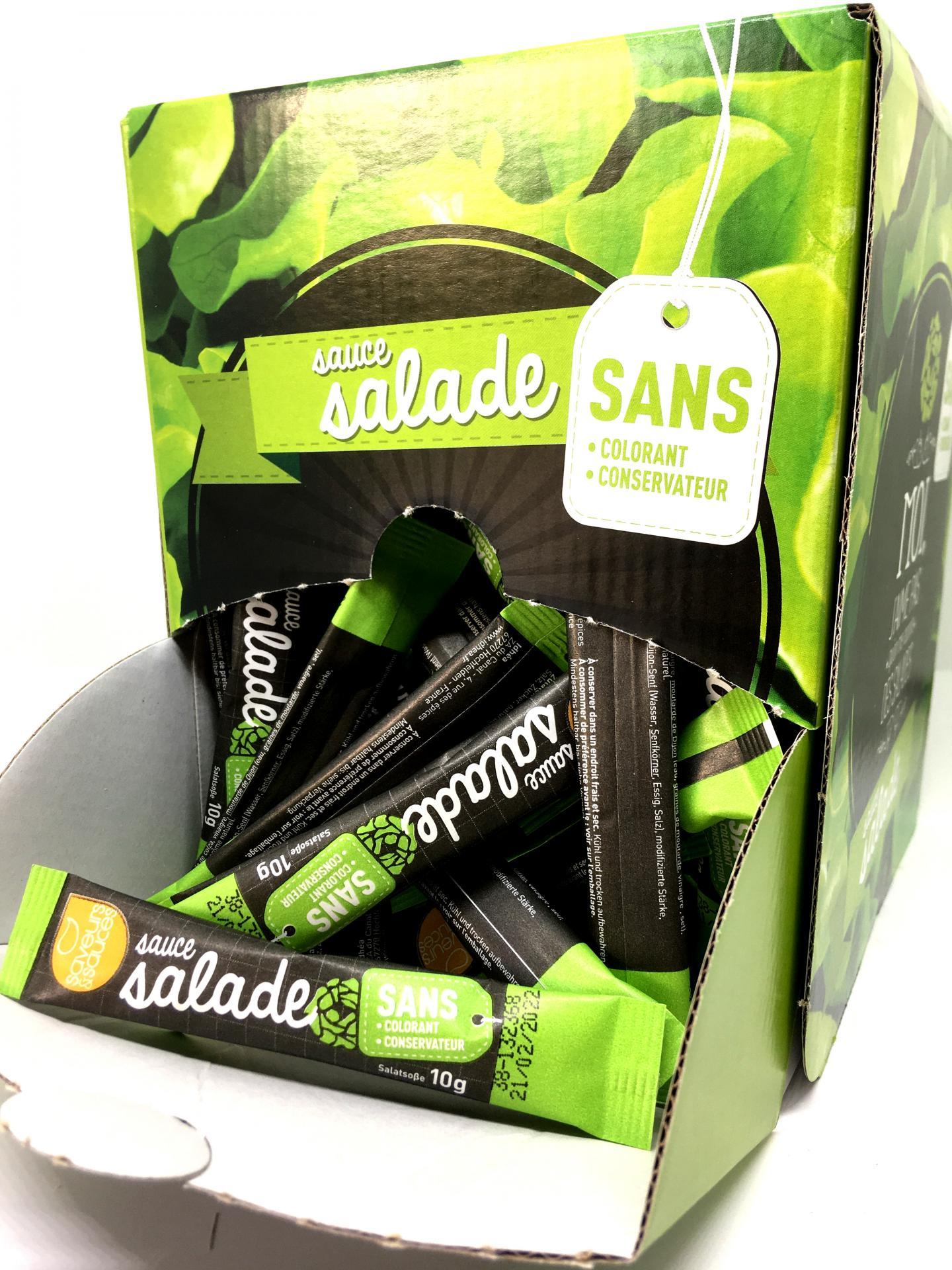 Sauce salade en stick saveurs et sauces sans colorant sans conservateur 10 g x 100 boite service