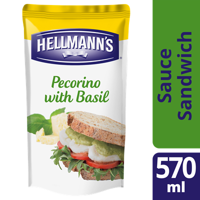 Sauce sandwich pecorino et basilic 570 ml hellmann s