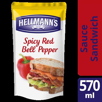 Sauce sandwich poivron rouge et tabasco 570 ml hellmann s