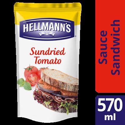 Sauce sandwich tomates sechees et basilic 570 ml hellmann s
