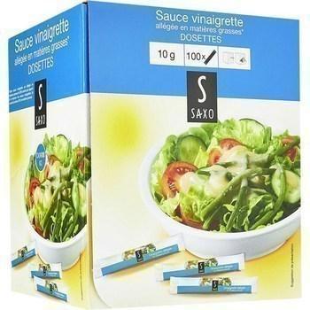 Sauce vinaigrette allegee en matieres grasses en dosettes 100x10 g