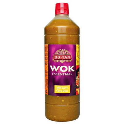 Sauce wok curry doux 1 l go tan