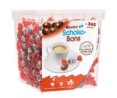 Schoko bons kinder 345 pieces 2 kg cevennes terroir colis gastronomiques