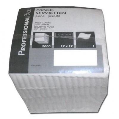 Serviette jetable 1 pli blanc 17 x 17 cm vendu par 2000 pour professionnels