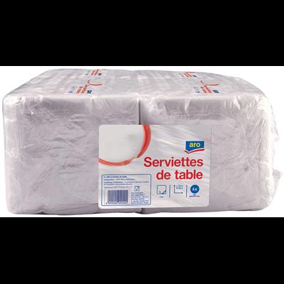 Serviette jetable 1 pli blanc 29 x 32 cm x 400 vendu par 4 1