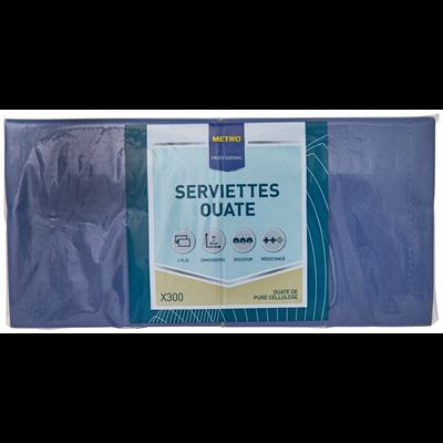 Serviette jetable 2 plis cellulose bleu ciel 33 x 33 cm x 200