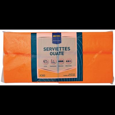 Serviette jetable 2 plis cellulose orange 33 x 33 cm x 201