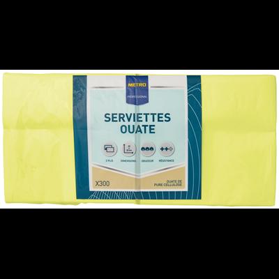Serviette jetable 2 plis citron vert 23 x 23 cm x 300