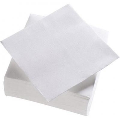 Serviette jetable double point blanc 38 x 38 cm vendu par 50 pour bureau