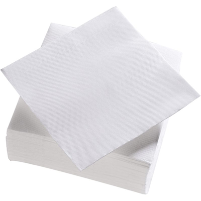 Serviette jetable double point blanc h 38 x l 38 cm x 50 le nappage