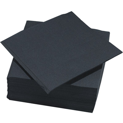 Serviette jetable double point noir h 38 x l 38 cm x 50 le nappage