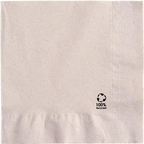 Serviette jetable recyclee 2 plis 40 x 40 cm x100 pour professionnels