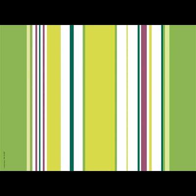 Set de table jetable a rayures vert anis x 200