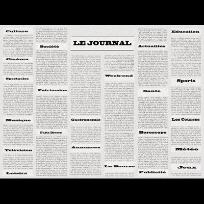 Set de table jetable papier journal vintage 30 x 40 cm x 500