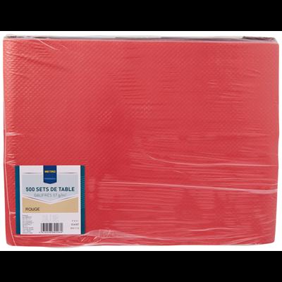 Set de table jetable satine rouge 30 x 40 cm vendu par 500