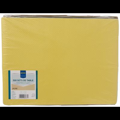 Set de table jetable satines jaune 30 x 40 cm vendu par 500