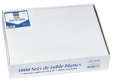 Sets de table gaufres blanc x 1000