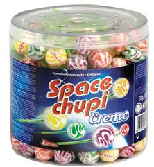 Spaces chupi creme 150 sucettes 1 5 kg intervan
