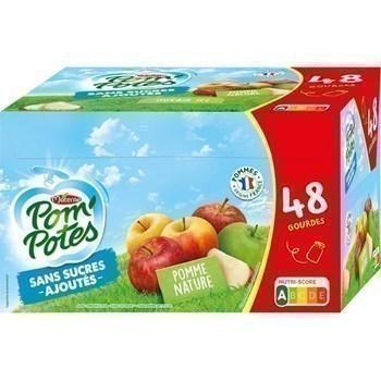 Specialite de pomme nature sans sucres ajoutes gourdes 48x90 g materne 1