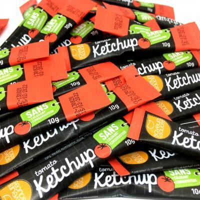 Sticket s ketchup 10 g saveurs et sauces le lot de 20