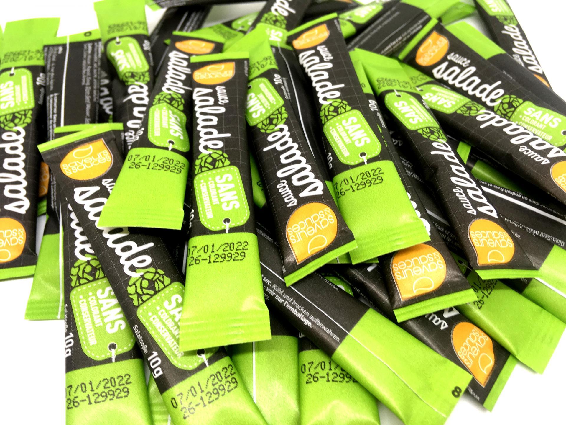 Sticket s sauce salade 10 g sans colorant et sans conservateur saveurs et sauces le lot de 100