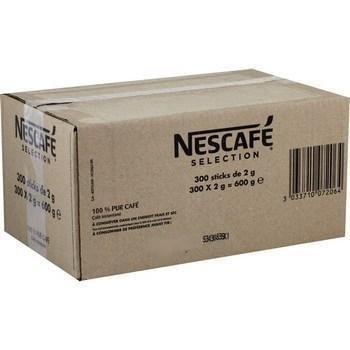 Sticks de cafe selection 600 g les 300 sticks de 2 g nescafe