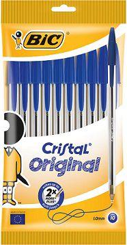 Stylo bille cristal bleu x 10