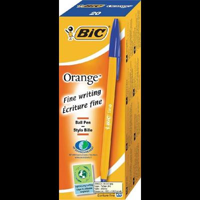 Stylo bille orange bleu x 20