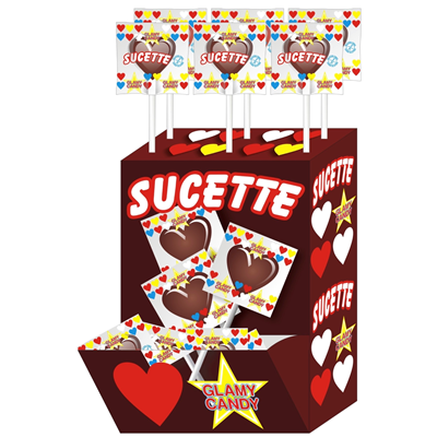 Sucette cola x 80 display glamy candy