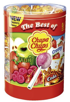 Sucettes acidulees the best of 150 pieces chupa chups