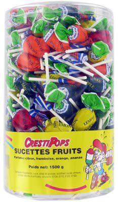 Sucettes aux fruits 150 pieces pour professionnels