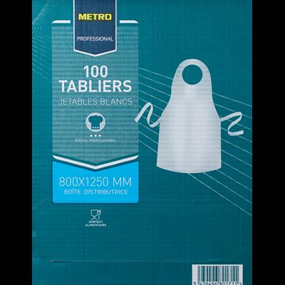 Tablier jetable blanc taille unique x 100