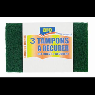 Tampon vert a recurer x 3 vendu par 10 aro