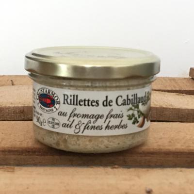 Tartinable de cabillaud au fromage ail et fines herbes 90g bocal