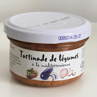 Tartinade de legumes a la mediterraneenne 90g bocal