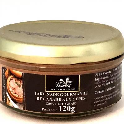 Tartinade gourmande de canard aux cepes 20 foie gras 120g 1