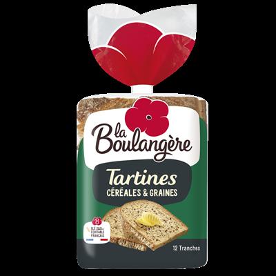 Tartines aux cereales 12 tranches la boulangere