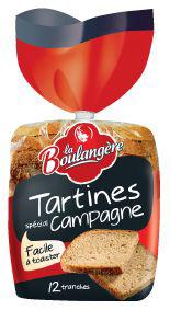 Tartines de campagne 12 tranches 450 g la boulangere