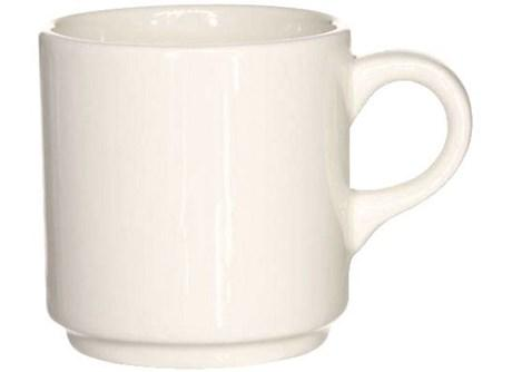 Tasse a cafe empilable blanc 9 cl vendu par 10 pour professionnels