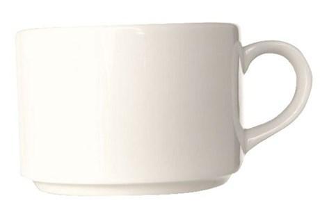 Tasse a the empilable blanc 20 cl vendu par 10 pour professionnels