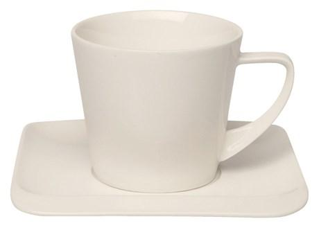 Tasse et sous tasse a cafe infinity vendu par 6 pour bureau
