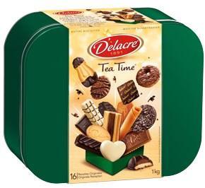 Tea time boite metallique 1 kg delacre pour bureau