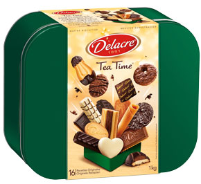 Tea time boite metallique 1 kg delacre