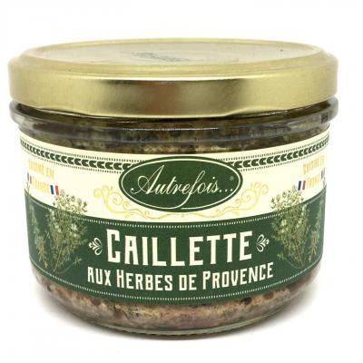 Terrine caillettes aux herbes de provence 180g autrefois terroir milhaud gard