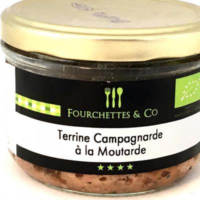 Terrine campagnarde a la moutarde bio 90g bocal