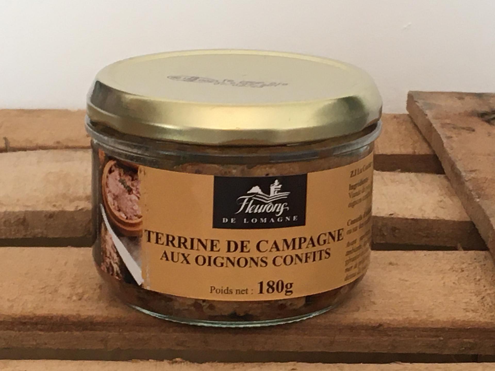 Terrine de campagne aux oignons confits 180g bocal