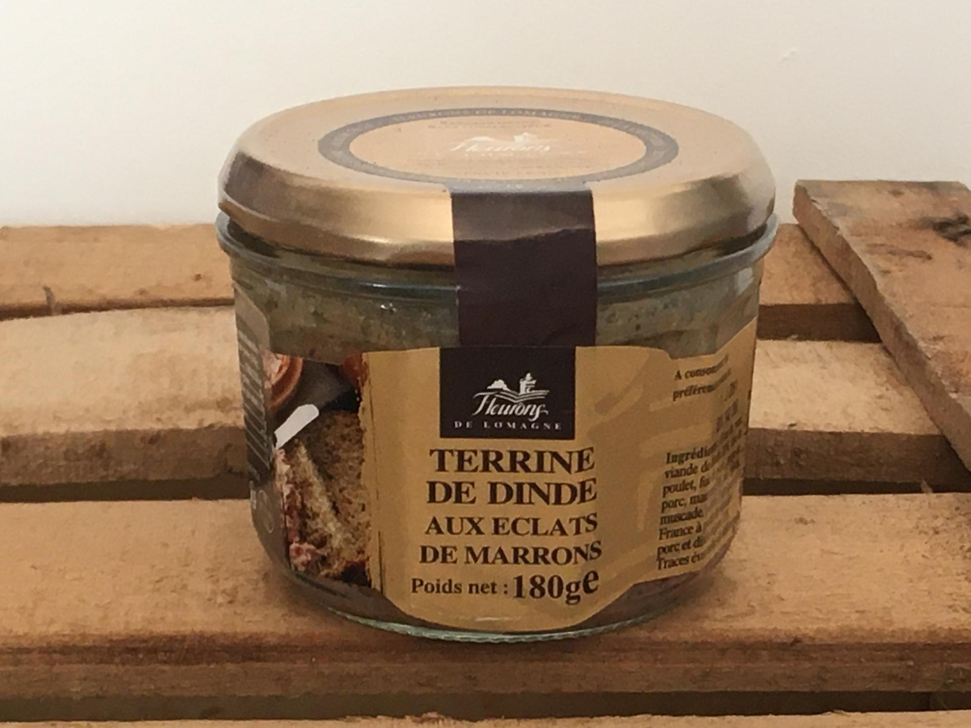Terrine de dinde aux eclats de marrons 180g bocal